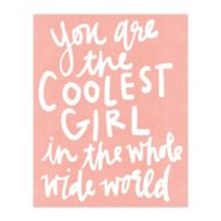 The Coolest Girl 8-Inch x 10-Inch Canvas Wall Art