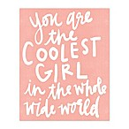 The Coolest Girl 16-Inch x 20-Inch Canvas Wall Art
