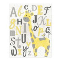 Pied Piper Creative Learn the Alphabet with George the Giraffe 16-Inch x 20-Inch Canvas Wall Art