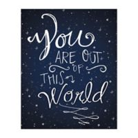 Pied Piper Creative Written in the Stars 16-Inch x 20-Inch Canvas Wall Art