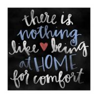 Home Comfort 12-Inch x 12-Inch Canvas Wall Art