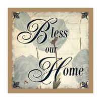 Home Blessing 12-Inch x 12-Inch Canvas Wall Art