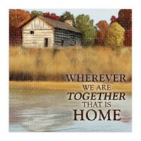 Together is Home 12-Inch x 12-Inch Canvas Wall Art