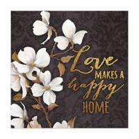 Loving Home 12-Inch x 12-Inch Canvas Wall Art