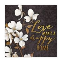 Loving Home 16-Inch x 16-Inch Canvas Wall Art