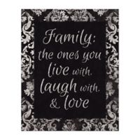 Family Love 8-Inch x 10-Inch Canvas Wall Art