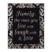 Family Love 16-Inch x 20-Inch Canvas Wall Art
