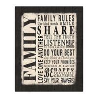 Family Rules 16-Inch x 20-Inch Canvas Wall Art