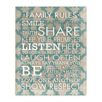 Family Guidelines 16-Inch x 20-Inch Canvas Wall Art