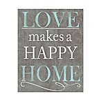 Love Makes a Happy Home Canvas Wall Art