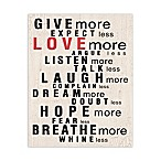 Love More Canvas Wall Art