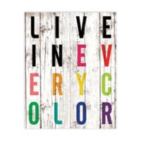 "Pied Piper Collection ""Live in Every Color"" Canvas Wall Art"