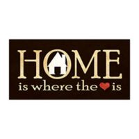 """Home Is Where the Heart Is"" Canvas Wall Art"