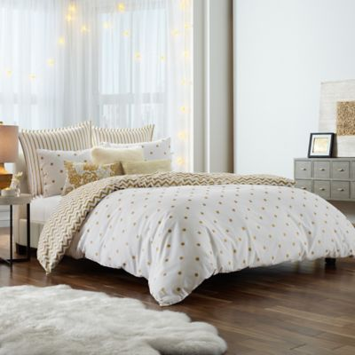 anthology gold glam twintwin xl comforter set