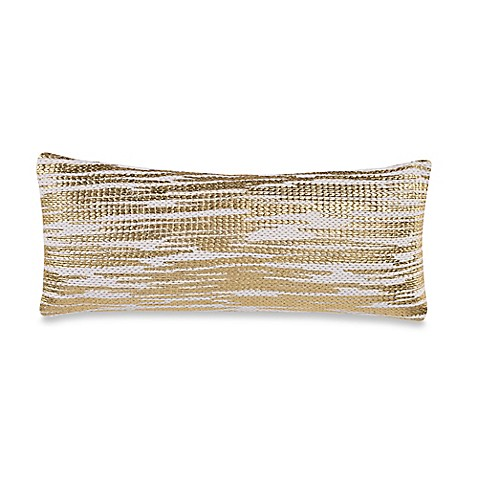 Anthology Gold Glam Foil Knit Oblong Throw Pillow - Bed Bath & Beyond