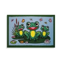 Fun Rugs® Happy Frogs 3-Foot 3-Inch x 4-Foot 10-Inch Accent Rug