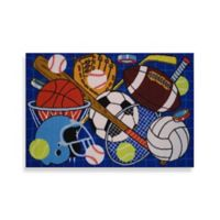 Fun Rugs™ 51-Inch x 78-Inch Let's Play Rug in Blue