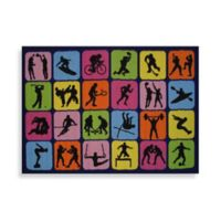 Fun Rugs™ Sports Symbol 3-Foot 3-Inch x 4-Foot 10-Inch Accent Rug