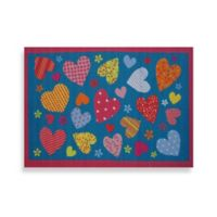 Fun Rugs™ Hearts 1-Foot 7-Inch x 2-foot 5-Inch Accent Rug in Turquoise