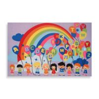 Fun Rugs® Multicolor Educational Balloons 6-Foot x 10-Foot Area Rug