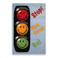 Fun Rugs® Traffic Signal 1-Foot 7-Inch x 2-Foot 5-Inch Accent Rug