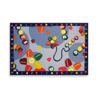 Fun Rugs® Tootsie Roll Dots 3-Foot 3-Inch x 4-Foot 10-Inch Accent Rug