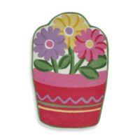 Fun Rugs™ Flower Pot 3-Foot 3-Inch x 4-Foot 10-Inch Rug