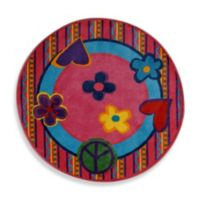 Fun Rugs 4-Foot 3-Inch x 4-Foot 3-Inch Peace Out Rug