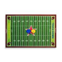 Fun Rugs™ Football Field 3-Foot 3-Inch x 4-Foot 10-Inch Area Rug