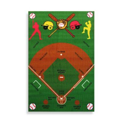 Fun RugsTM Baseball Field 3 Foot Inch X 4 10