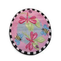 Fun Rugs™ Pink Dragonfly 3-Foot 3-Inch x 3-Foot 3-Inch Circular Rug