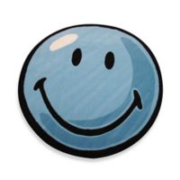Fun Rugs™ Smiley 3-Foot 3-Inch Round Rug in Blue