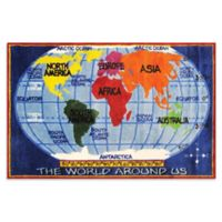 Fun Rugs™ 8-Foot x 11-Foot World Map Rug