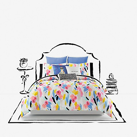 Kate Spade New York Paintball Floral Comforter Set Bed