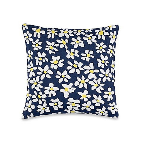 Throw Pillows One Kings Lane : kate spade new york Charlotte Street Sunburst Throw Pillow in Navy - Bed Bath & Beyond