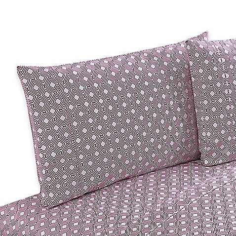 Buy clairebella diamond reversible queen sheet set in pink for Clairebella