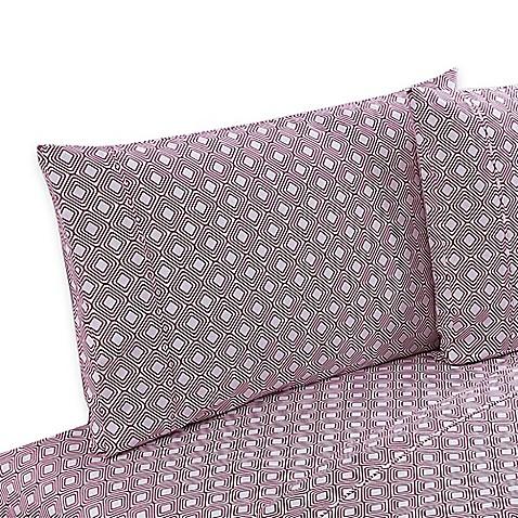 Buy clairebella diamond reversible queen sheet set in pink for Clairebella