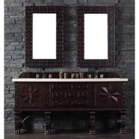 James Martin Furniture Balmoral Double Vanity with Galala Beige Stone Top in Antique Walnut