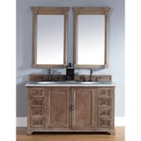 James Martin Furniture Providence Double Vanity in Driftwood without Countertop