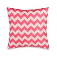 Glenna Jean Pippin Chevron Throw Pillow in Pink/White