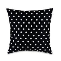 Glenna Jean Pippin Polka Dot Throw Pillow in Black/White