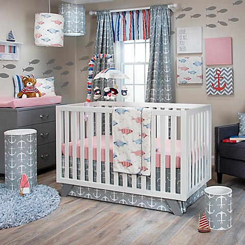 Glenna jean fish tales crib bedding collection bed bath for Fishing nursery bedding