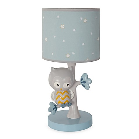 night owl lamp base and shade the charming lambs ivy night owl. Black Bedroom Furniture Sets. Home Design Ideas