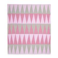 Weegoamigo Carousel Cotton Knit Baby Blanket in Pink