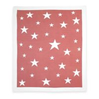 Weegoamigo Stellar Cotton Knit Baby Blanket in Red