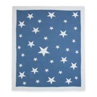 Weegoamigo Stellar Cotton Knit Baby Blanket in Navy