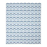 Weegoamigo Ziggy Cotton Knit Baby Blanket in Blue