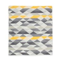 Weegoamigo Geo Rayon Made from Bamboo/Cotton Knitted Baby Blanket in Charcoal