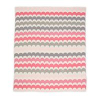 Weegoamigo RicRac Alice Rayon Made from Bamboo/Cotton Knitted Baby Blanket in Pink