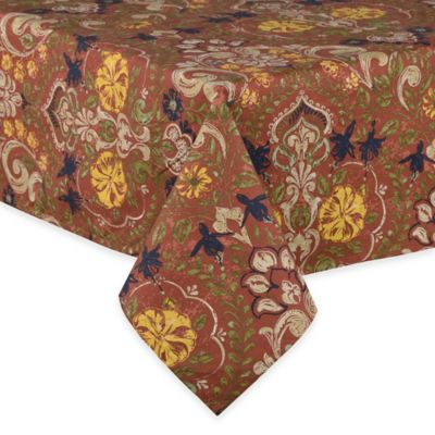 Beau Jessica 60 Inch X 84 Inch Laminated Oblong Tablecloth